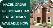 8 new high quality Hampshire homes - 2, 3 and 4 bedroom